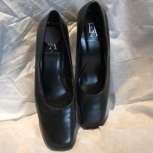 Etienne Aigner | Classic Black Block Heel Pumps